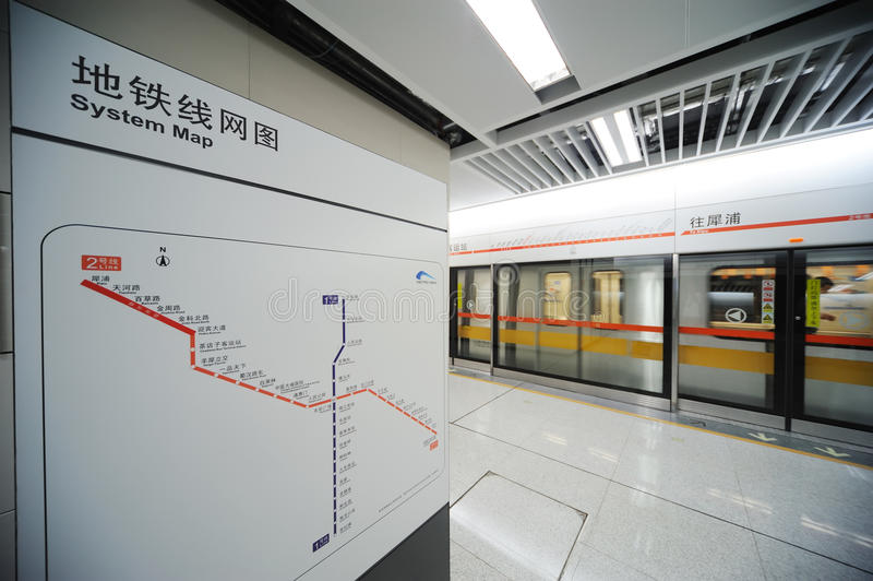 Linha 2 do metro de Chengdu fotos de stock