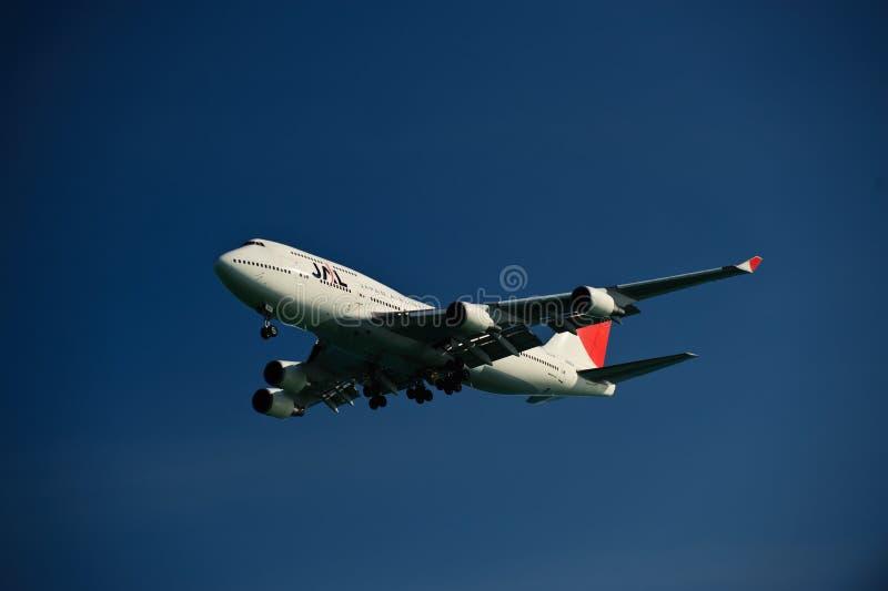Linha aérea 747-400 de Japão foto de stock