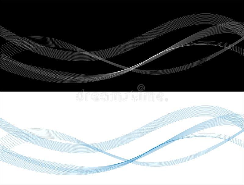 Linha abstrata ilustração stock