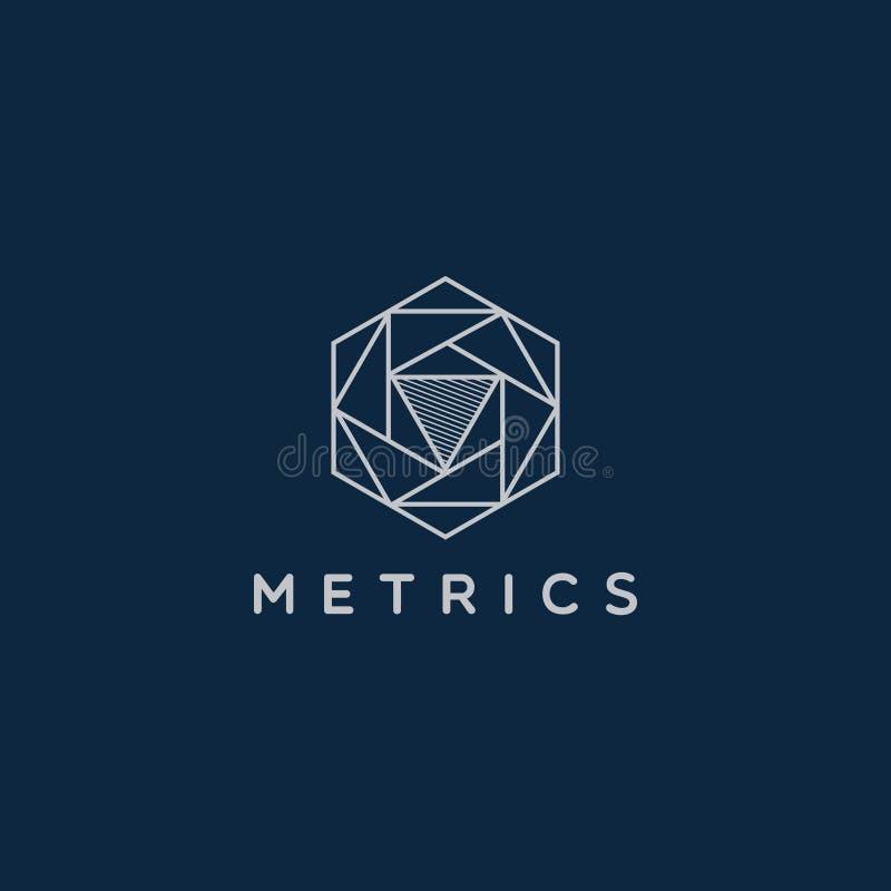 Linha abstrata Art Geometric Logo Design imagens de stock royalty free
