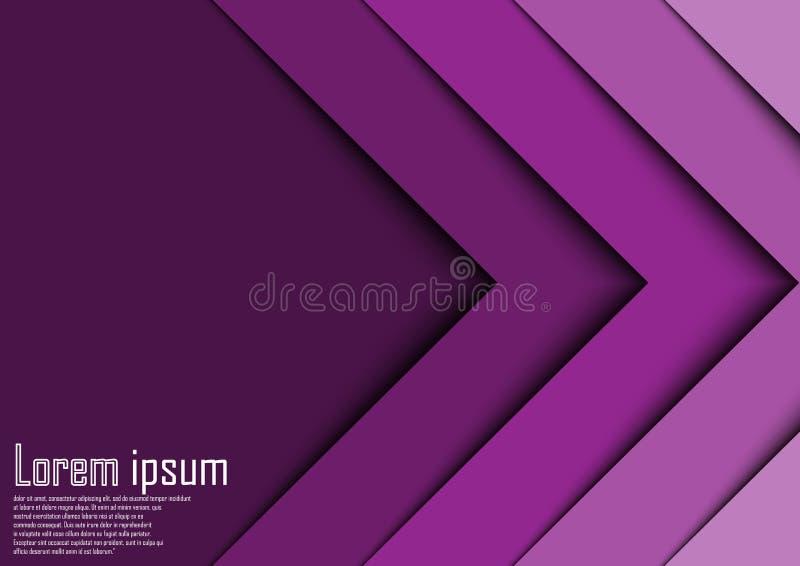 Linha abstrata backgrou da onda da seta da violeta 3d do sumário do certificado fotografia de stock