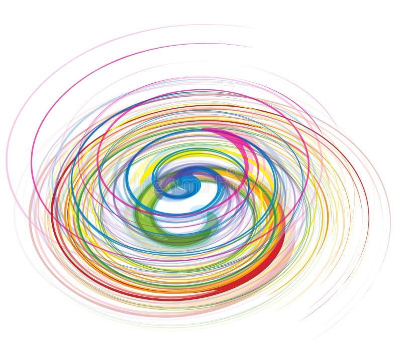 Linha abstrata da onda do arco-íris ilustração royalty free