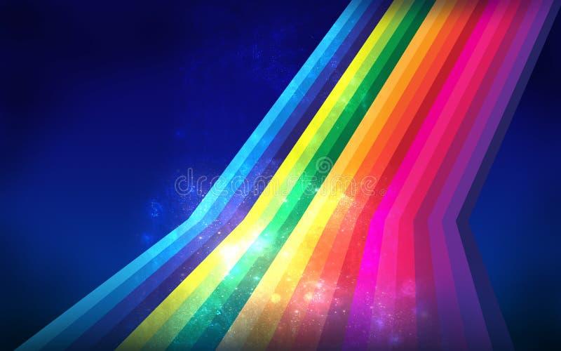 Linha abstrata do colorfull ilustração do vetor