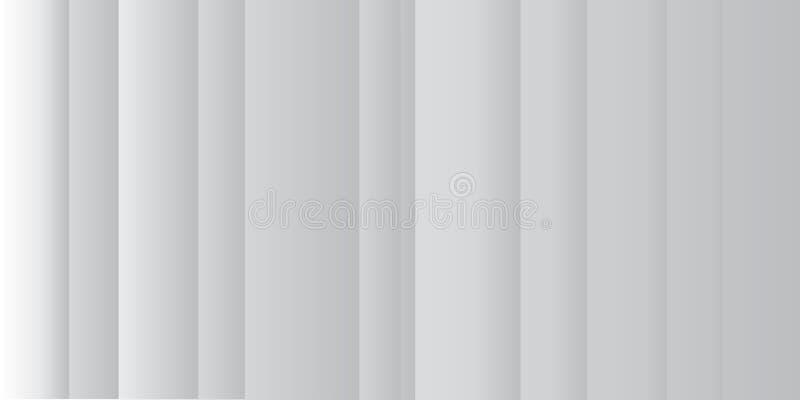 Linha abstrata fundo branco e cinzento do teste padr?o com listras Ilustra??o do vetor ilustração stock