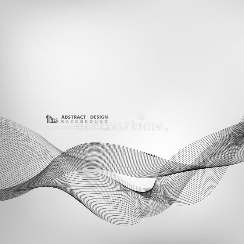 Linha abstrata fundo cinzento geométrico da tecnologia da cor do projeto do teste padrão Vetor eps10 da ilustra??o ilustração do vetor