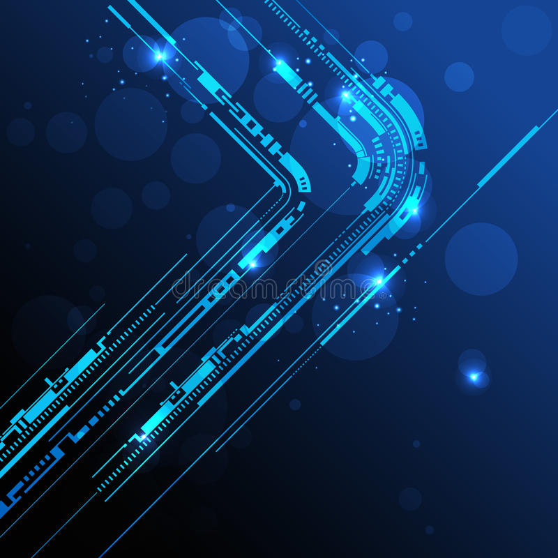 Linha abstrata fundo da tecnologia ilustração do vetor