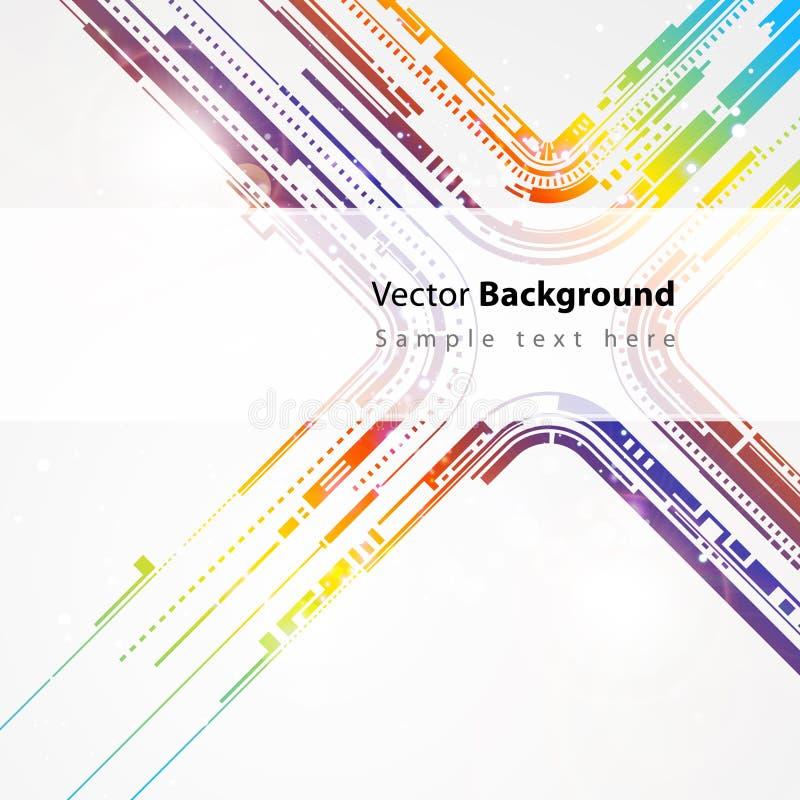 Linha abstrata fundo do vetor da tecnologia ilustração stock