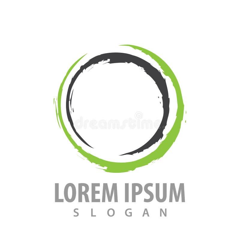 Linha abstrata projeto do círculo de conceito do logotipo Vetor gráfico do elemento do molde do símbolo ilustração royalty free