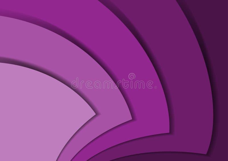 Linha abstrata sumário da onda da seta da violeta 3d do certificado foto de stock royalty free