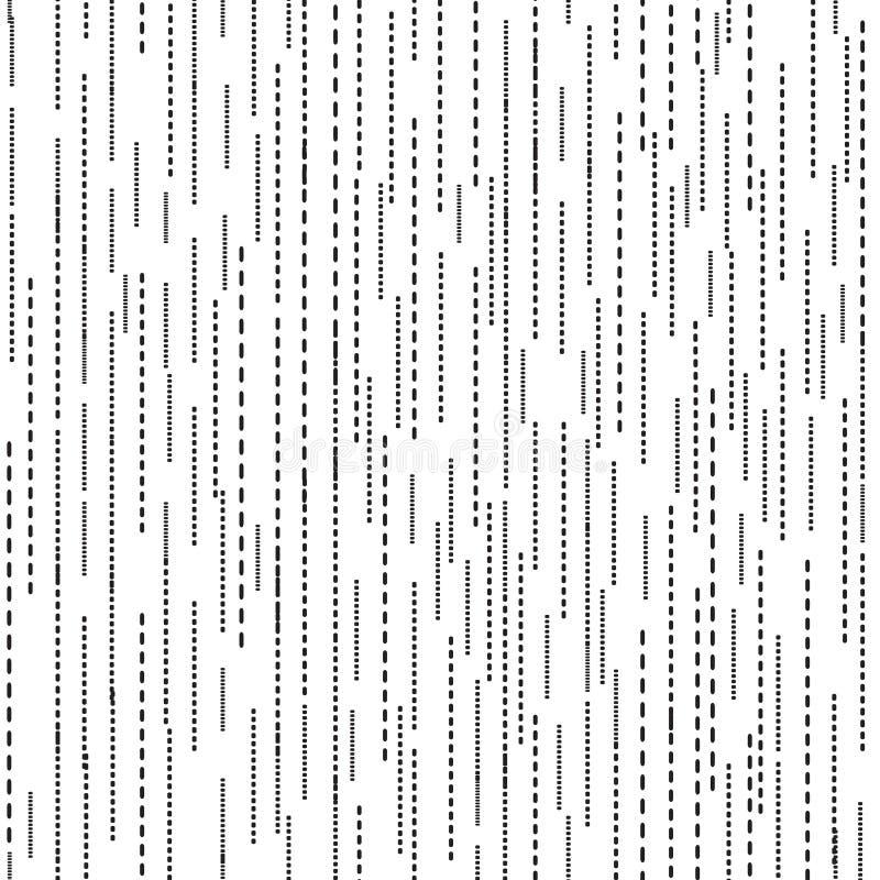 Linha abstrata teste padrão sem emenda da ondinha Textura preto e branco da mancha da ondinha ilustração royalty free