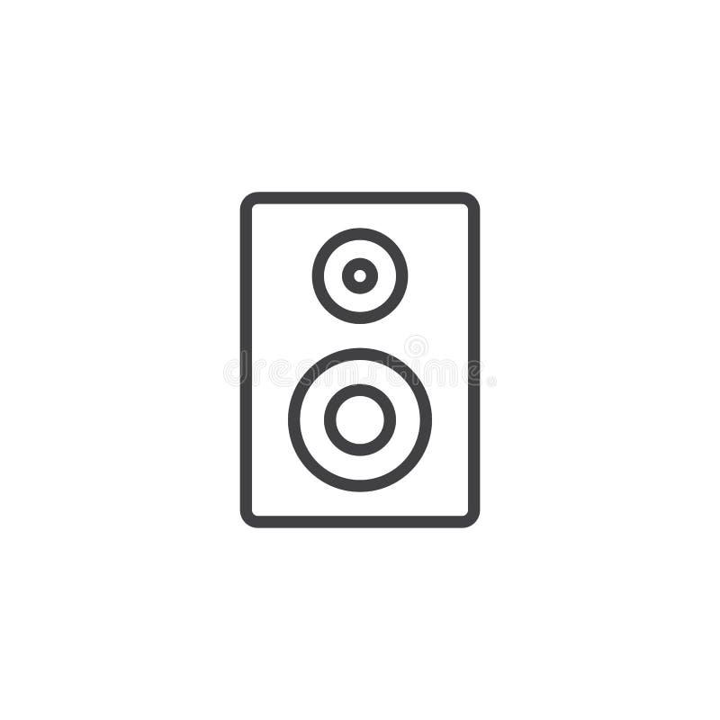 Linha acústica ícone do orador ilustração do vetor