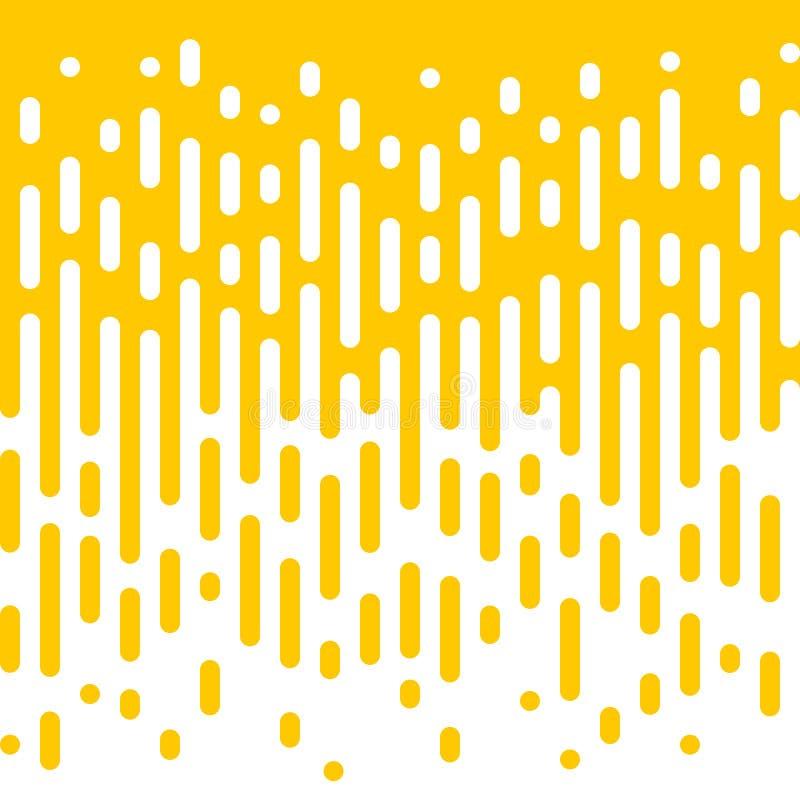 Linha amarela abstrata fundo da reticulação do fluxo ilustração royalty free