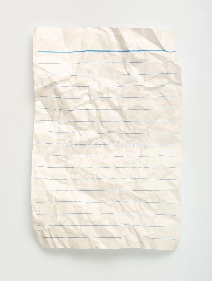 Download Linha amarrotada papel imagem de stock. Imagem de letra - 539915
