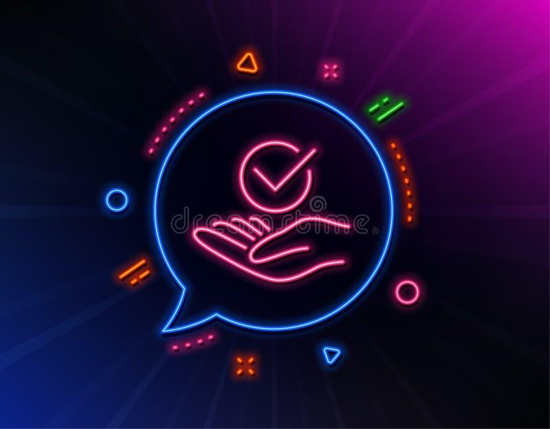 Linha aprovada ?cone Sinal aceitado ou confirmado Vetor ilustração royalty free
