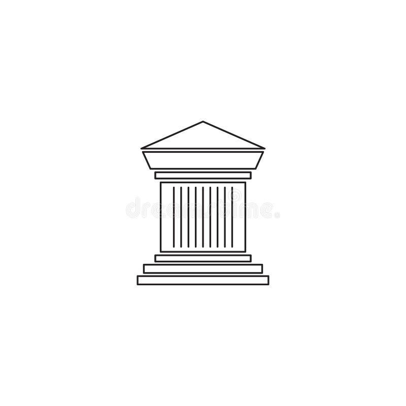 Linha arqueológico ícone do local ilustração stock