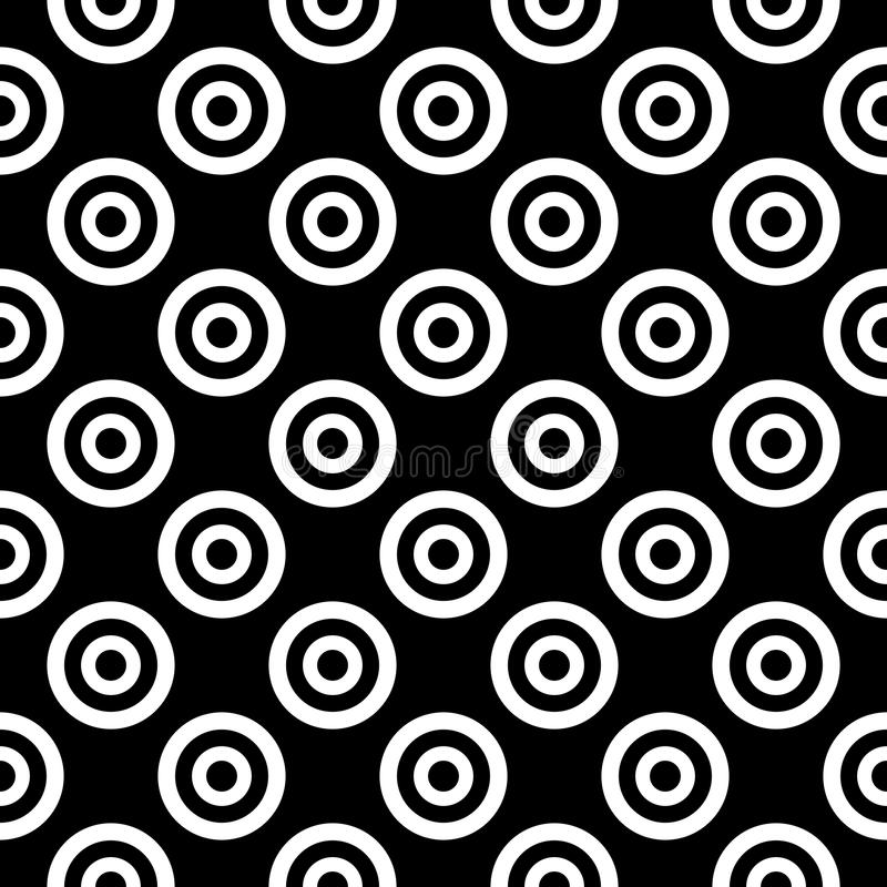 Linha arredondada preto e branco sem emenda teste padrão simples do hexágono do vetor do favo de mel da grade ilustração stock