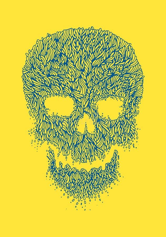 Linha Art Skull Illustration imagens de stock
