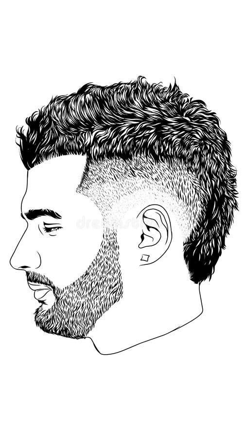 Linha Art Vetora Hair Style imagem de stock