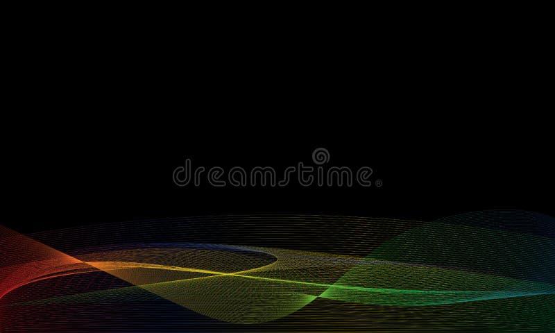 Linha Art Wallpaper Background da onda do arco-íris ilustração royalty free