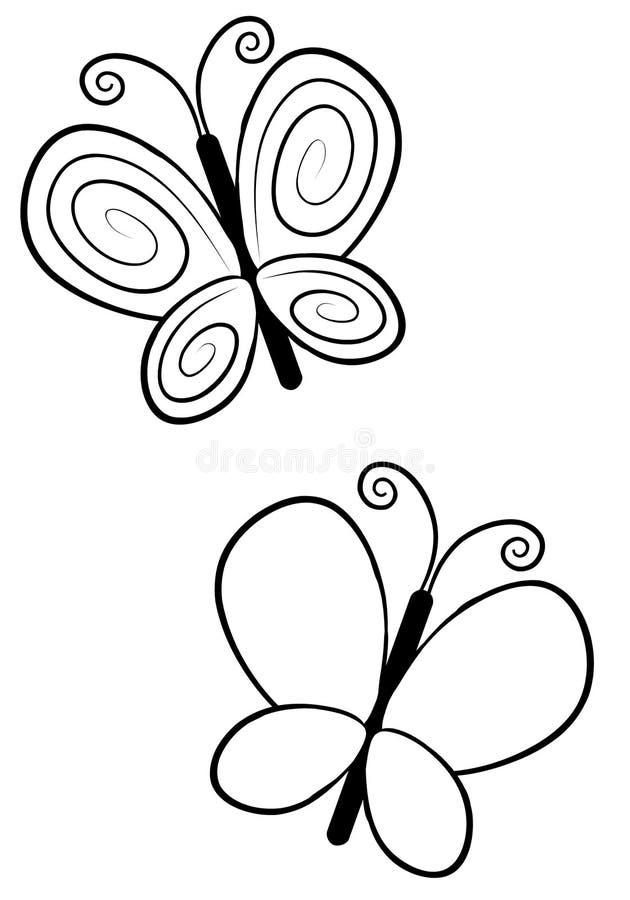 Linha arte da borboleta ilustração do vetor