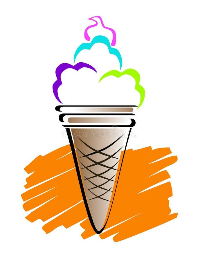 Linha arte do gelado ilustração stock