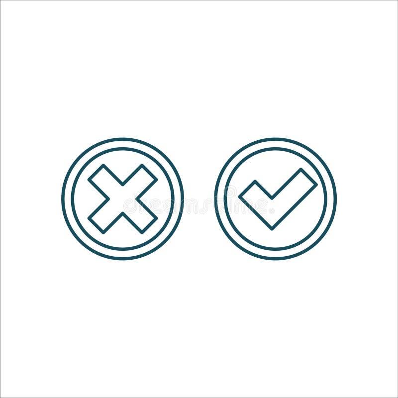 Linha arte do vetor do ícone da lista de verificação ilustração stock