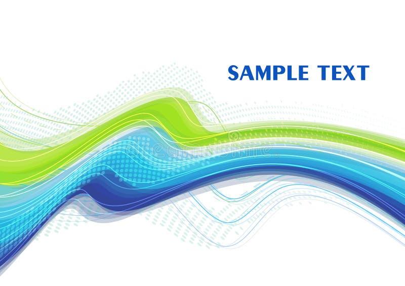 Linha azul esverdeado convexa ilustração stock