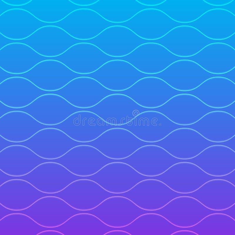 Linha azul fundo da onda do inclinação abstrato do teste padrão da arte ilustração do vetor