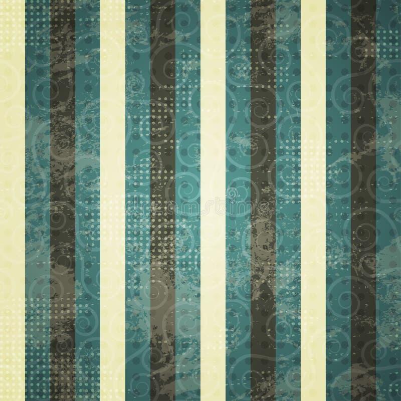 Linha azul teste padrão do vintage dos seamess ilustração do vetor