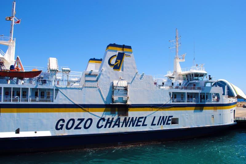 Linha balsa do canal de Gozo imagem de stock royalty free