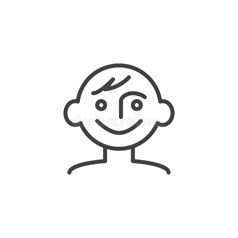 Linha bonito ícone do bebê ilustração royalty free