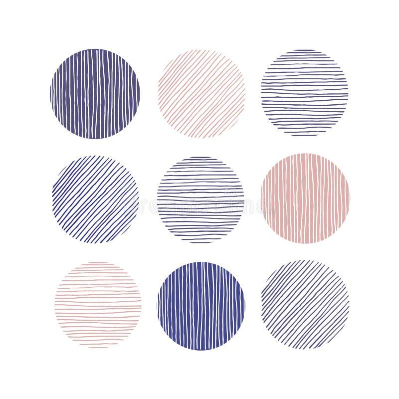 Linha bonito textura dos grupos A mão afoga-se ilustração stock