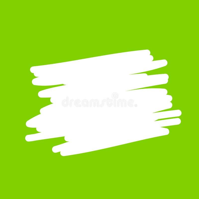 A linha branca vazia da arte das bolhas do discurso, bolhas vazias cômicas do discurso rabisca ou o diálogo da etiqueta, ilustr ilustração do vetor