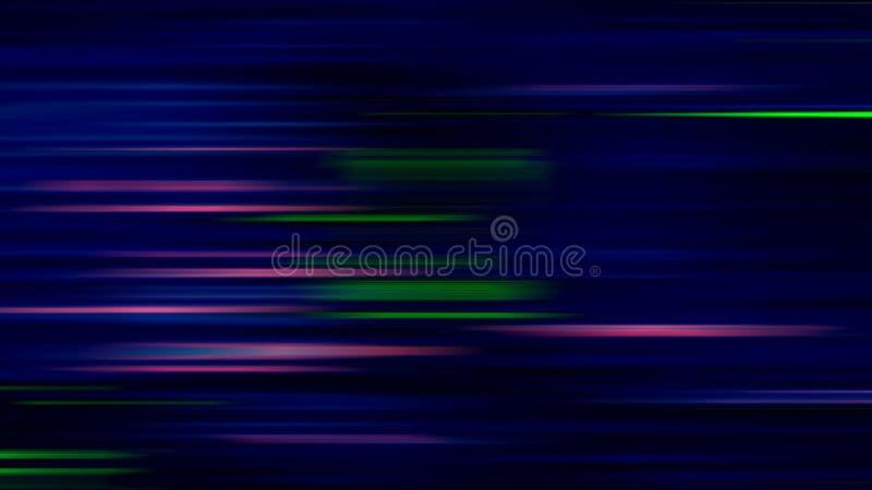 Linha brilhante cor-de-rosa verde abstrata fundo do borrão ilustração do vetor