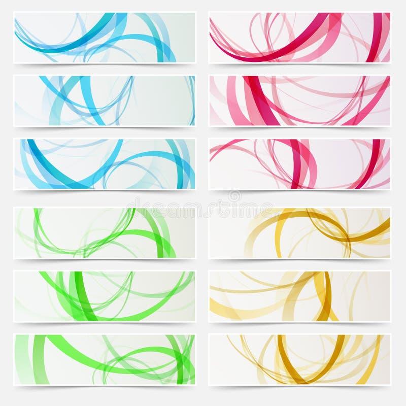 Linha brilhante grupo do swoosh do encabeçamento do sumário da estrutura ilustração royalty free