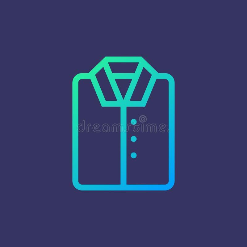 Linha camisa do ícone ilustração royalty free