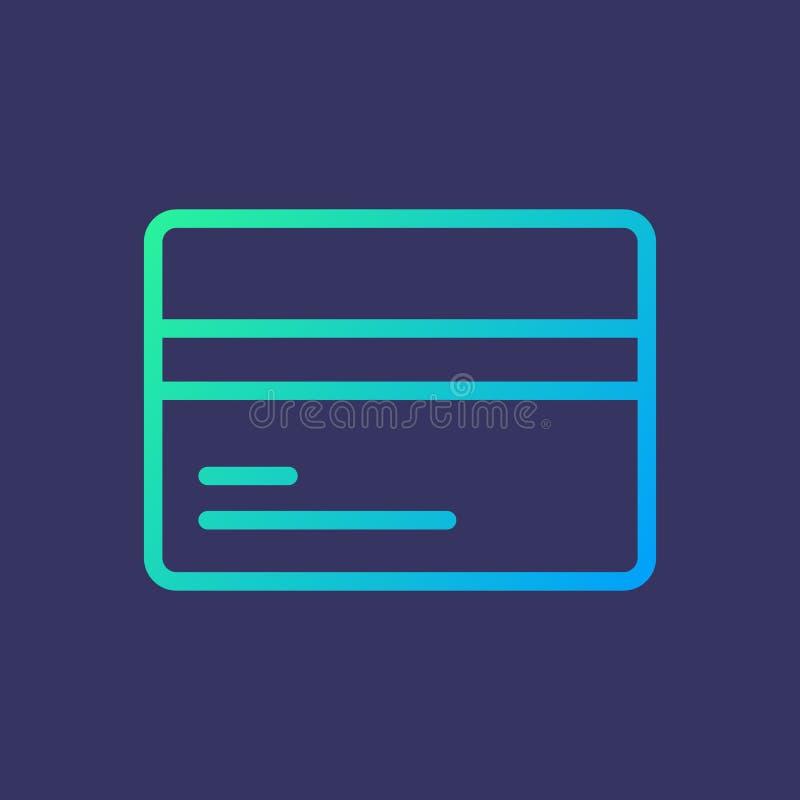 Linha cartão do pagamento do ícone imagem de stock royalty free