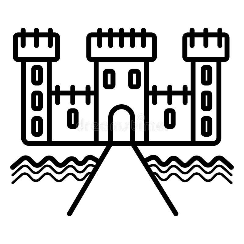 Linha castelo do ícone ilustração do vetor
