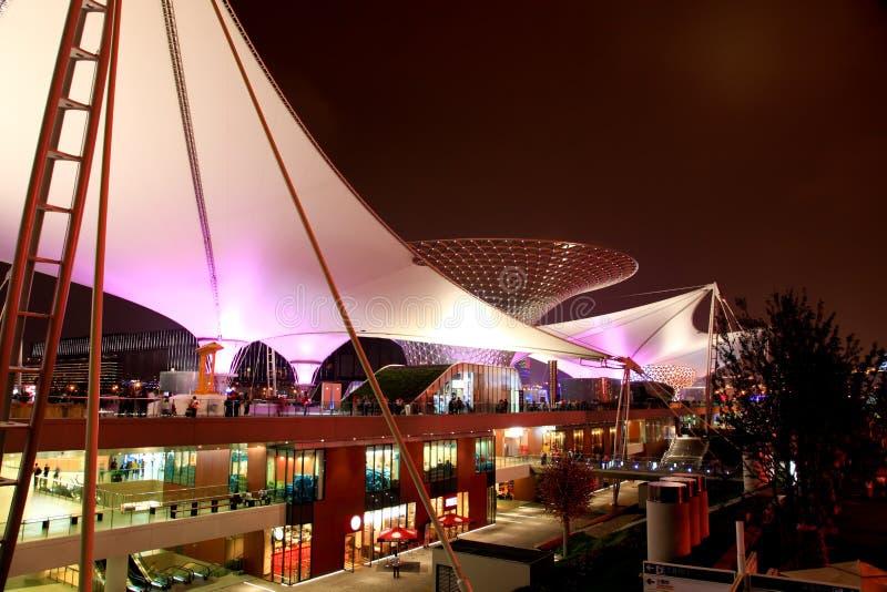A linha central da expo na expo do mundo em Shanghai fotografia de stock royalty free