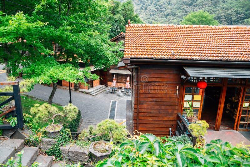 Linha cidade velha de Jiji de Checheng em Nantou, Taiwan fotos de stock