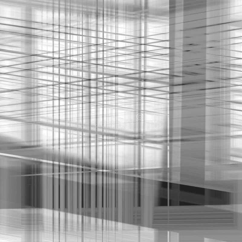 Linha cinzenta teste padrão ilustração stock
