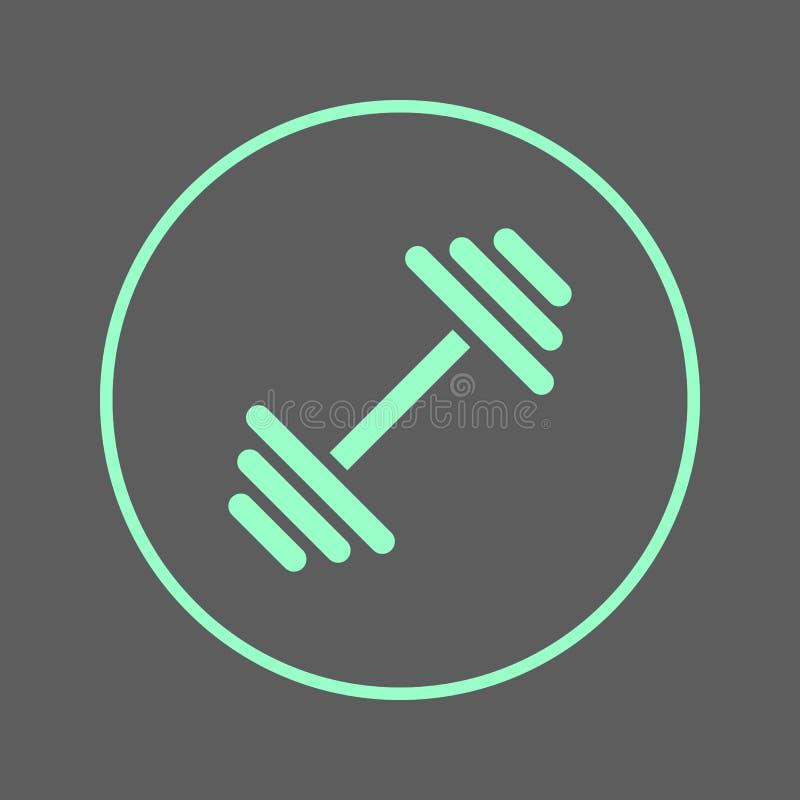 Linha circular ícone do peso Gym, sinal colorido redondo da aptidão Símbolo liso do vetor do estilo ilustração royalty free