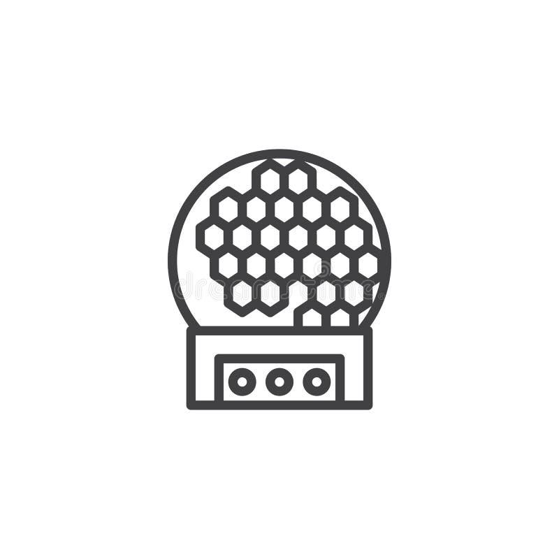 Linha clara ?cone da bola do disco ilustração do vetor
