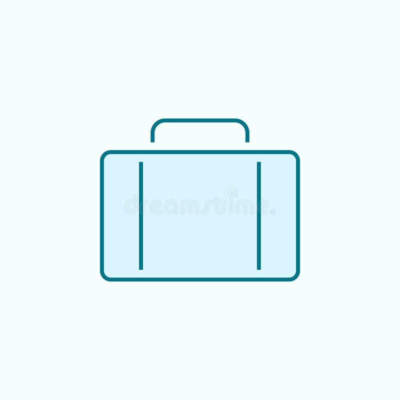 linha colorida ícone da mala de viagem 2 Ilustração simples do elemento colorido projeto do símbolo do esboço da mala de viagem d ilustração royalty free