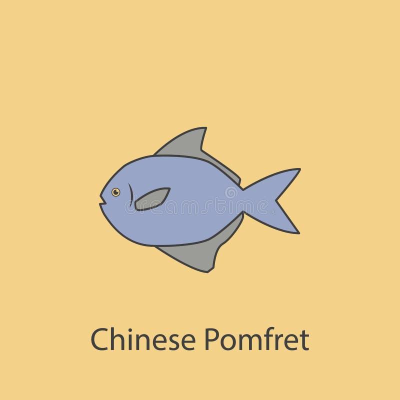 linha colorida ícone das xaputas 2 chineses Ilustração roxa e cinzenta simples do elemento projeto chinês franco do símbolo do es ilustração do vetor