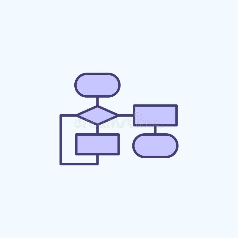 linha colorida ícone do algoritmo 2 Ilustração simples do elemento colorido projeto do símbolo do esboço do algoritmo das novas t ilustração do vetor