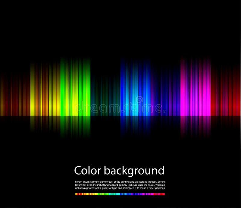 Linha colorida abstrata do fundo ilustração do vetor