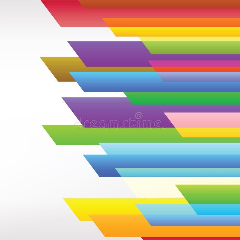 Linha colorida arte do fundo ilustração do vetor