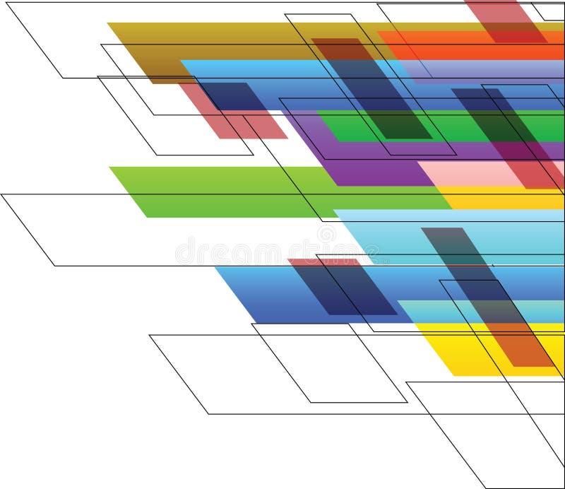 Linha colorida arte do fundo ilustração stock