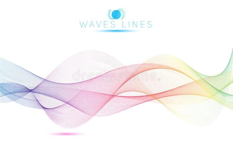 Linha colorida da mistura da luz do inclinação das grandes ondas do arco-íris brilhante ilustração royalty free
